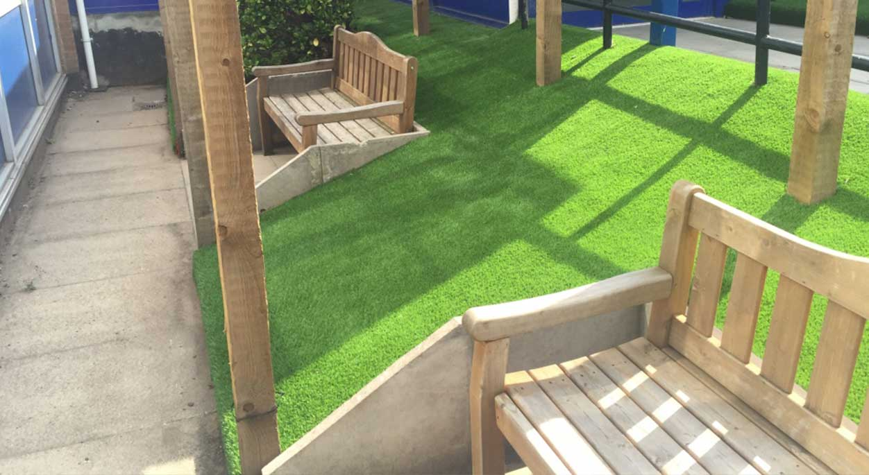 St Mary's Artificial Grass Installation